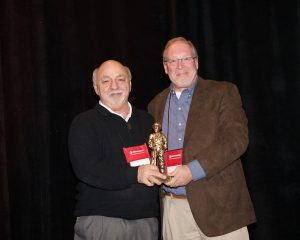 Jeff Scott presents Ted Powell with IMAA Miner of the Year Award