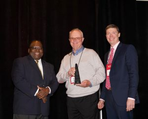 Ken Wanstrath accepts IMAA Hall of Fame award