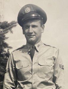 Richard Benck during his military service.